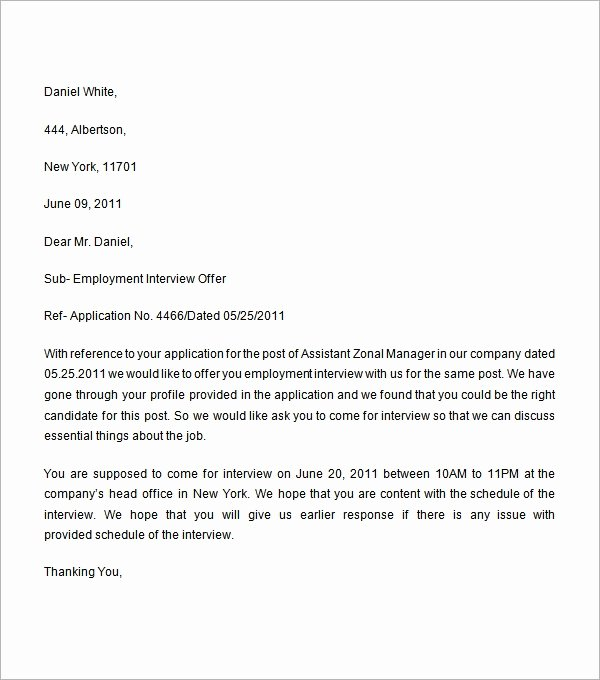 Job Offer Letter Sample Doc Lovely Employment Fer Letter 6 Free Doc Download