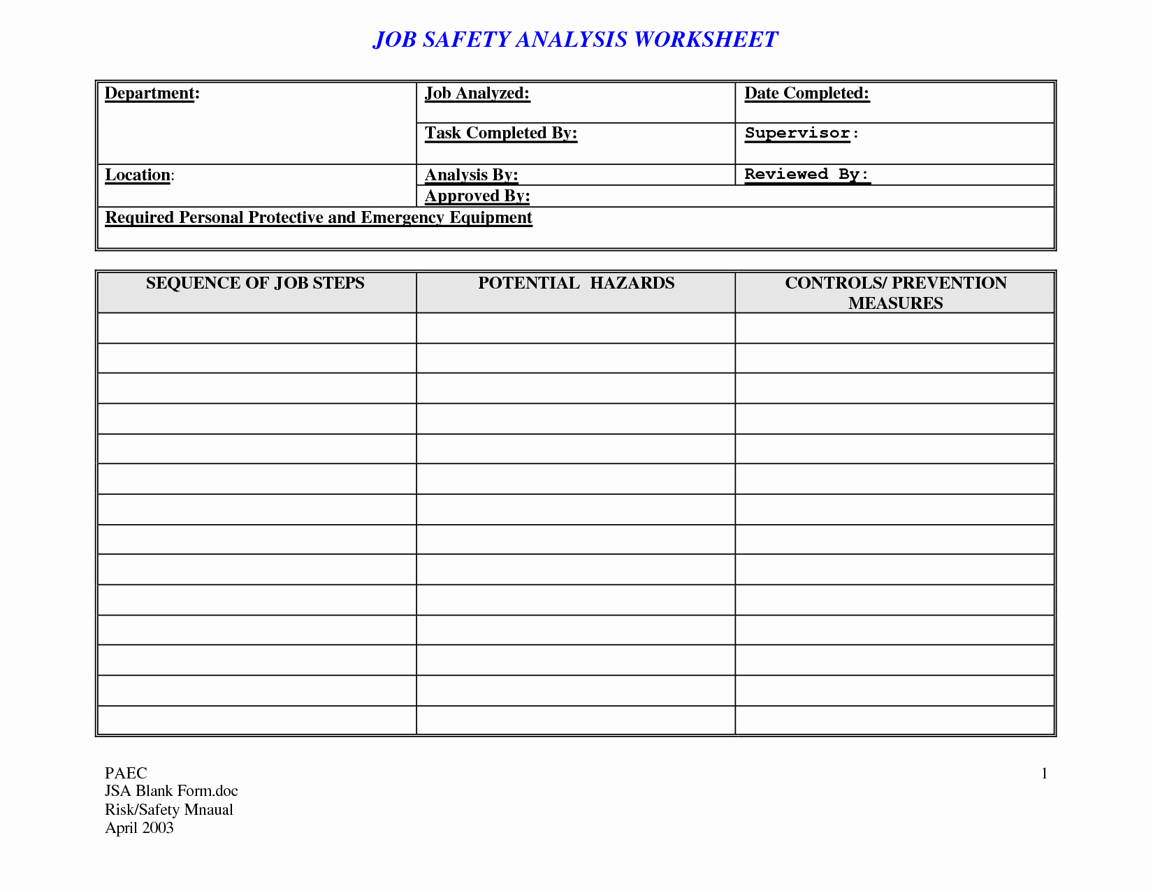 Job Safety Analysis Template Excel Best Of 20 Effective Task List Template and Examples to Inspire You Violeet