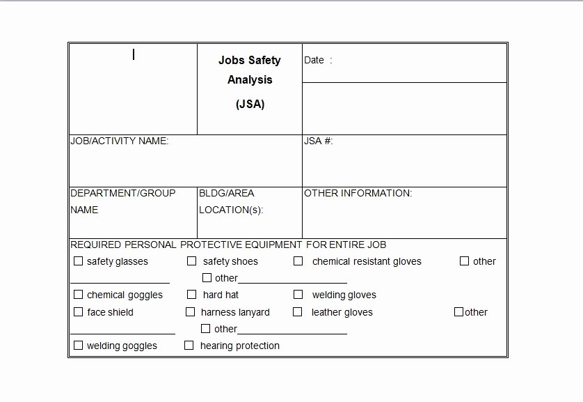 Job Safety Analysis Template Excel Luxury Price Analysis Spreadsheet Template Excel Tmp