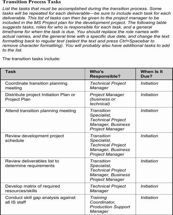 Job Transition Plan Template Beautiful Download Job Transition Plan Template for Free
