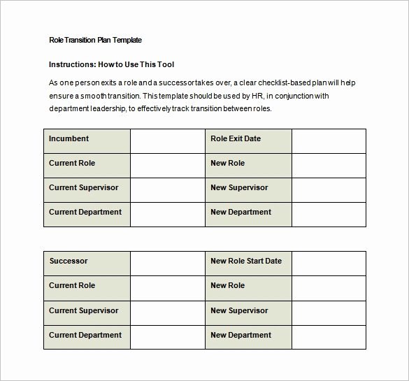 Job Transition Plan Template Best Of 9 Transition Plan Templates Free Word Pdf Documents