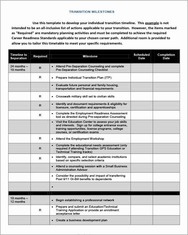 Job Transition Plan Template New 5 Transition Plan Templates