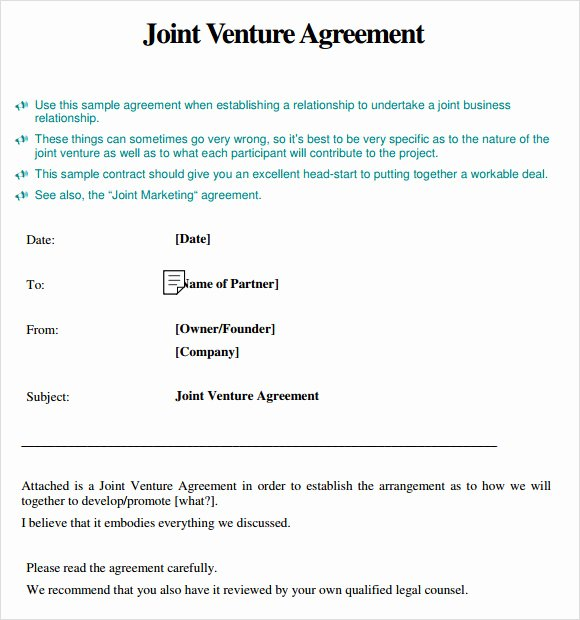 Joint Venture Agreement Pdf Beautiful Joint Venture Agreement 8 Free Samples Examples & format