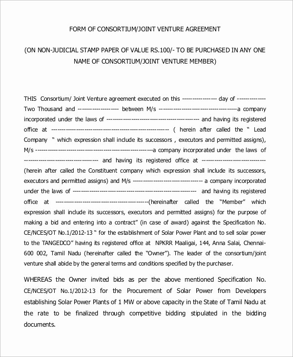 Joint Venture Agreement Pdf Best Of Joint Venture Agreement Sample Pdf