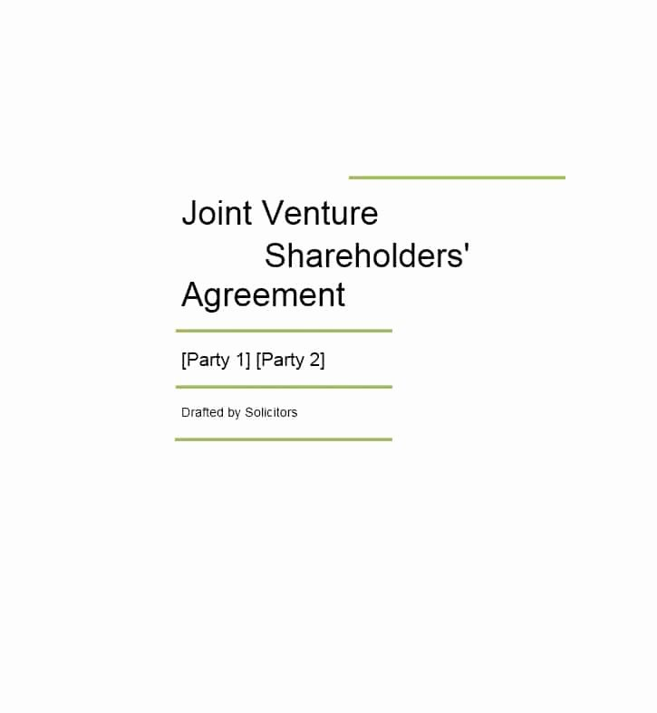 Joint Venture Agreement Pdf Inspirational 53 Simple Joint Venture Agreement Templates [pdf Doc] Template Lab