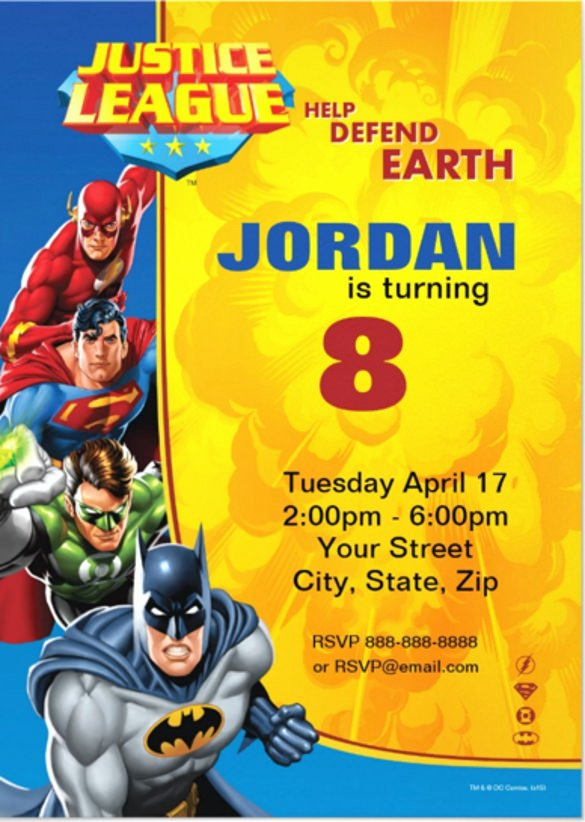 Justice League Birthday Invitations Beautiful Hulk Invitation Wording