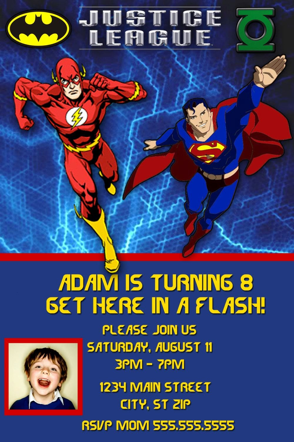 Justice League Birthday Invitations Best Of Justice League Birthday Invitation by Charmingangel On Etsy $11 00 toby Party