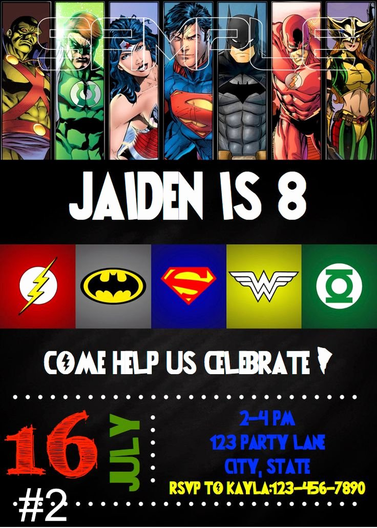 Justice League Birthday Invitations Best Of Justice League Birthday Invitation Digital File by Munchdoodles Invitations
