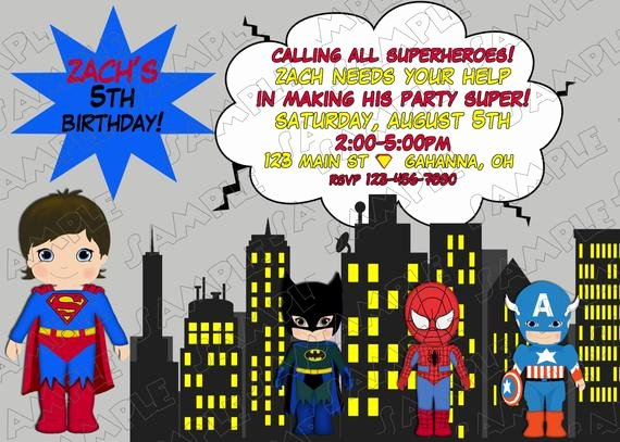 Justice League Birthday Invitations Best Of Superman Superhero Inspired Justice League Birthday Party Printable Invitations Uprint