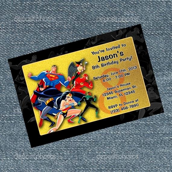 Justice League Birthday Invitations Fresh Justice League Invitations Superman Batman by Rrcreations123
