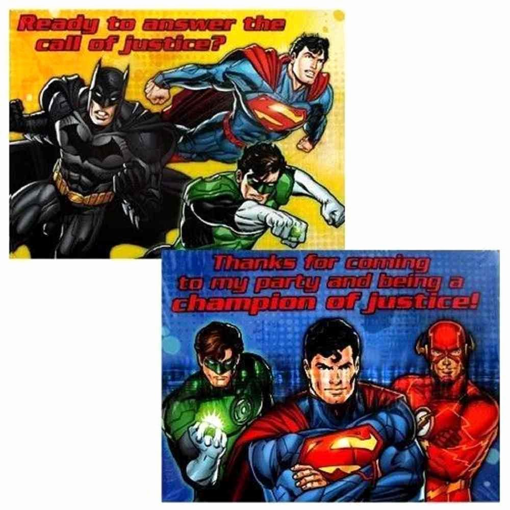 Justice League Birthday Invitations Inspirational Justice League Rescue Dc Superhero Birthday Party Invitations Thank You Notes