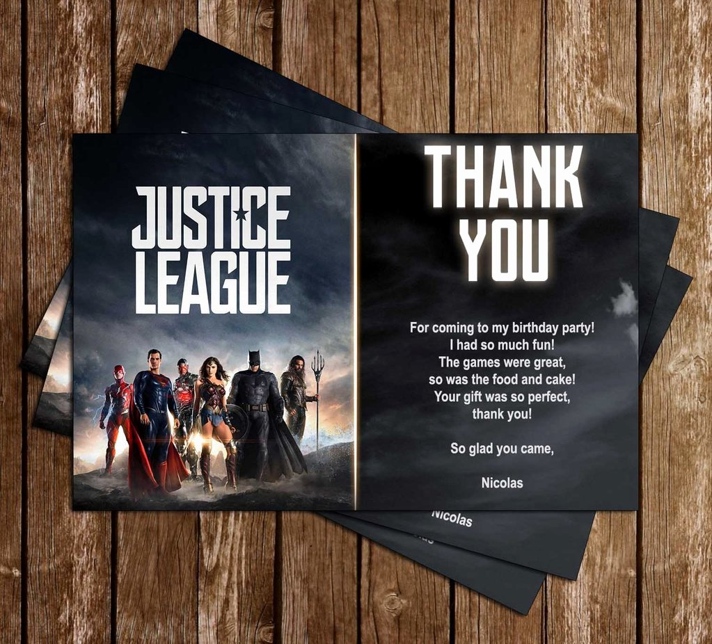 Justice League Birthday Invitations Luxury Novel Concept Designs Justice League Movie Birthday Party Invitation