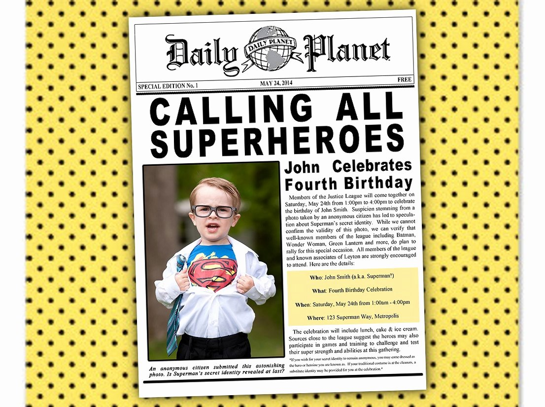 Justice League Birthday Invitations Unique Justice League Birthday Invitations Printable