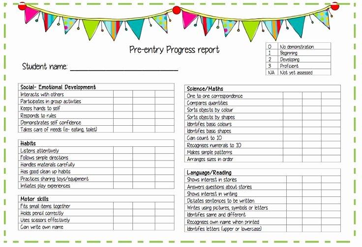 Kindergarten Progress Report Printable Lovely 1000 Images About Preschool Progress Reports On Pinterest