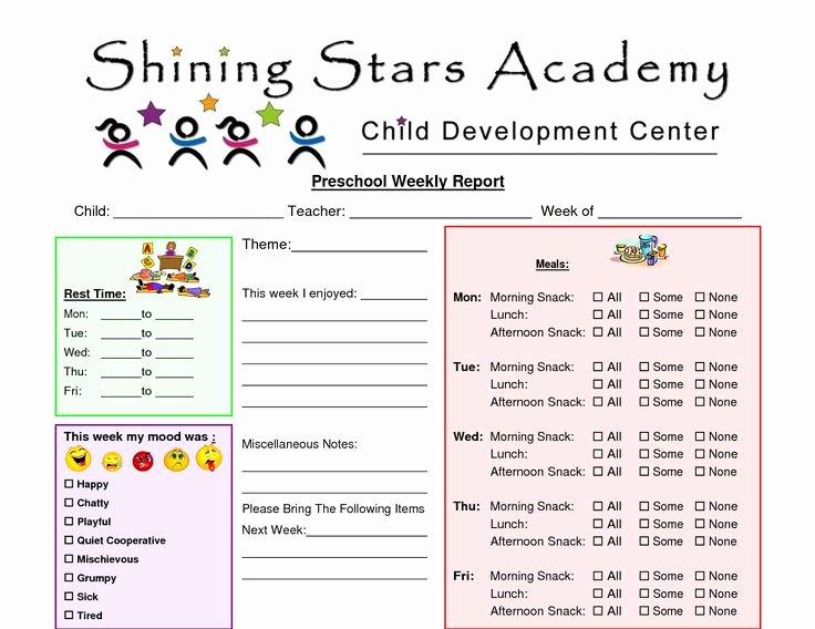 Kindergarten Progress Report Printable Unique Preschool Progress Report Template Preschool