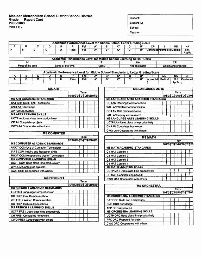 Kindergarten Progress Report Template Elegant 24 Age for Kindergarten In Ny