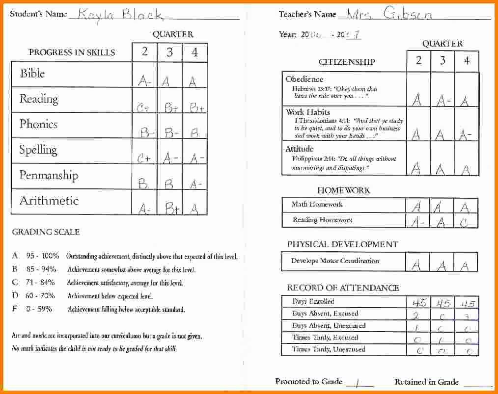 Kindergarten Report Card Template Elegant 11 Kindergarten Report Card