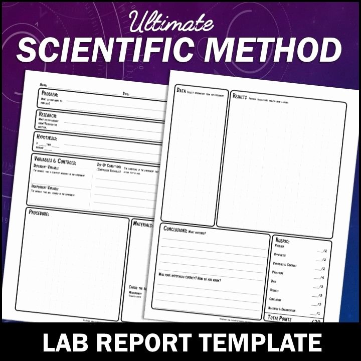 Lab Report Template Middle School Best Of Scientific Method Lab Report Template for Any Science