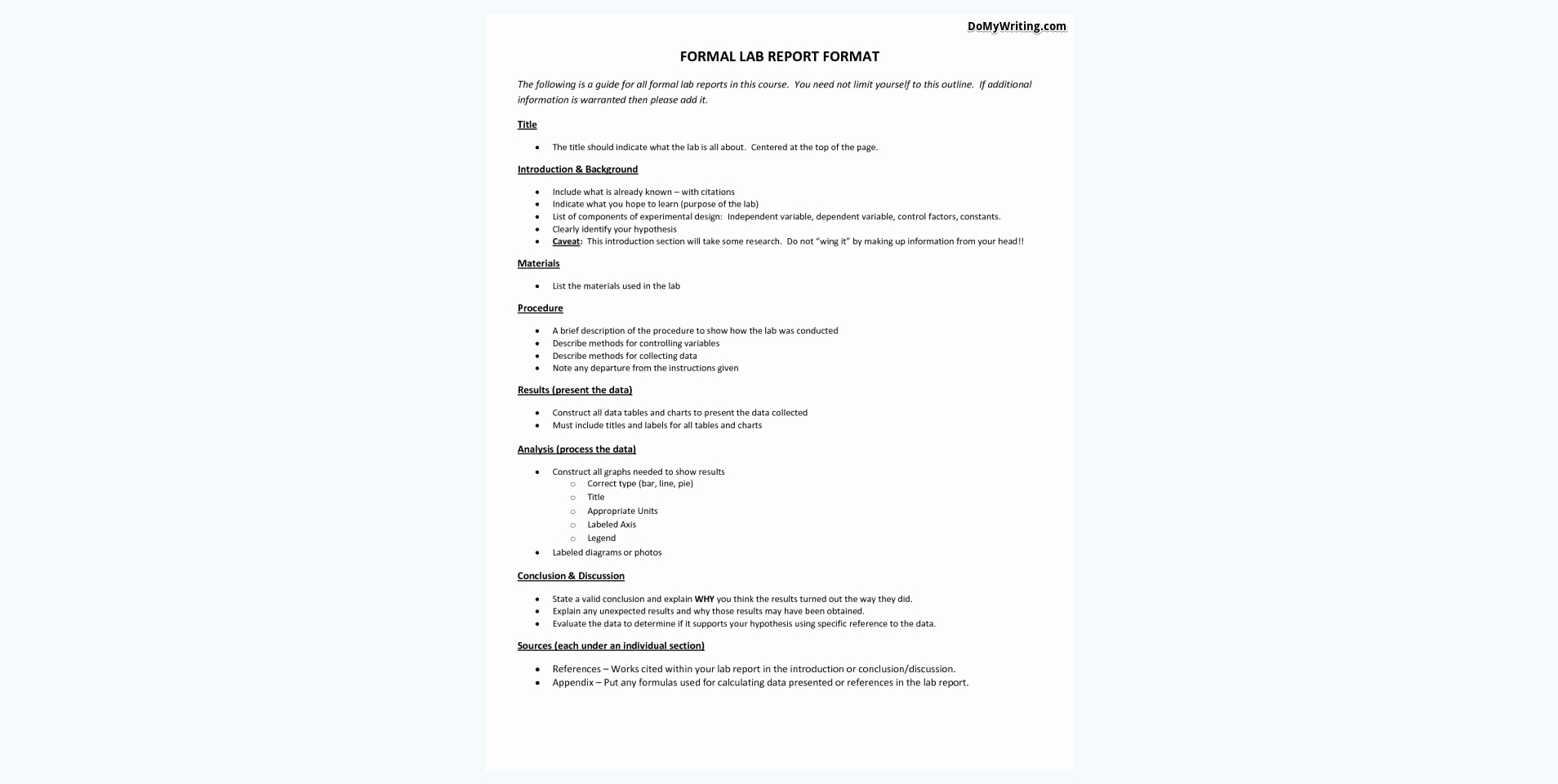 Lab Report Template Middle School Elegant Writing A Lab Report Everything A Student Should Know to