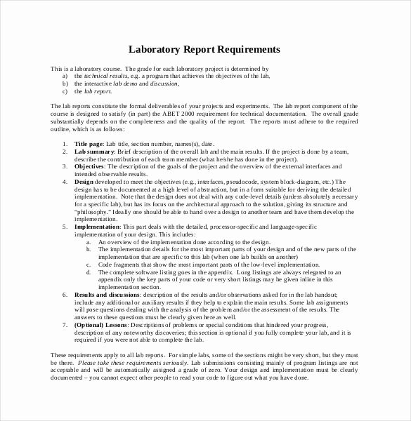 Lab Report Template Word Best Of 29 Lab Report Templates Pdf Google Docs Word Apple Pages