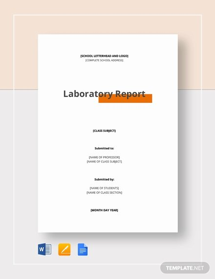 Lab Report Template Word Fresh 29 Lab Report Templates Pdf Google Docs Word Apple Pages