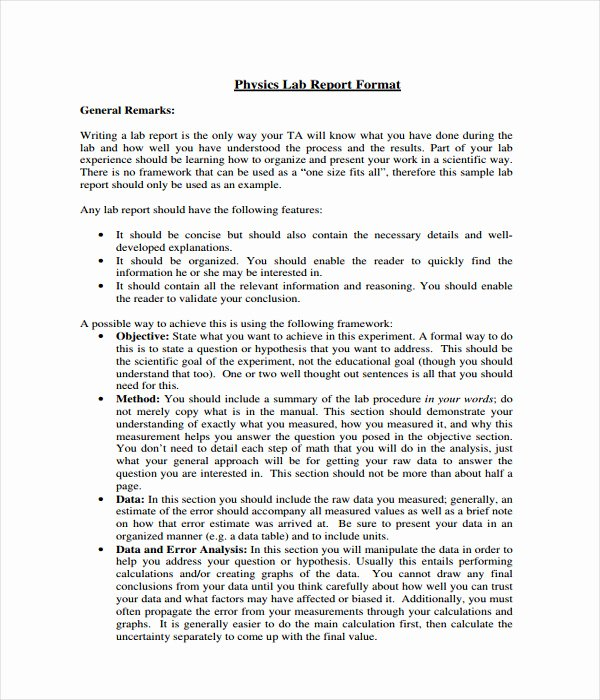 Lab Report Template Word New 25 Report Templates Free Word Pdf Documents Download