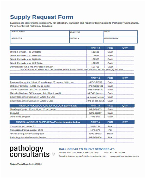 Lab Requisition form Template Best Of 43 Free Requisition forms