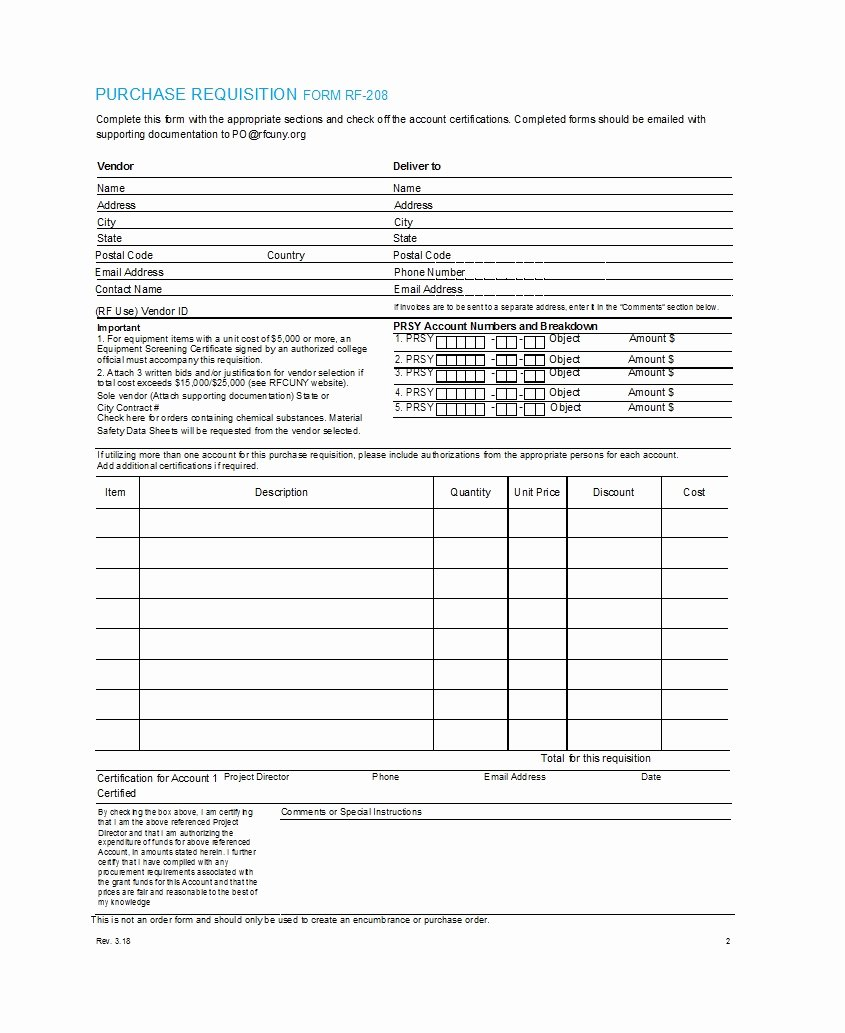 Lab Requisition form Template Fresh 50 Professional Requisition forms [purchase Materials Lab]