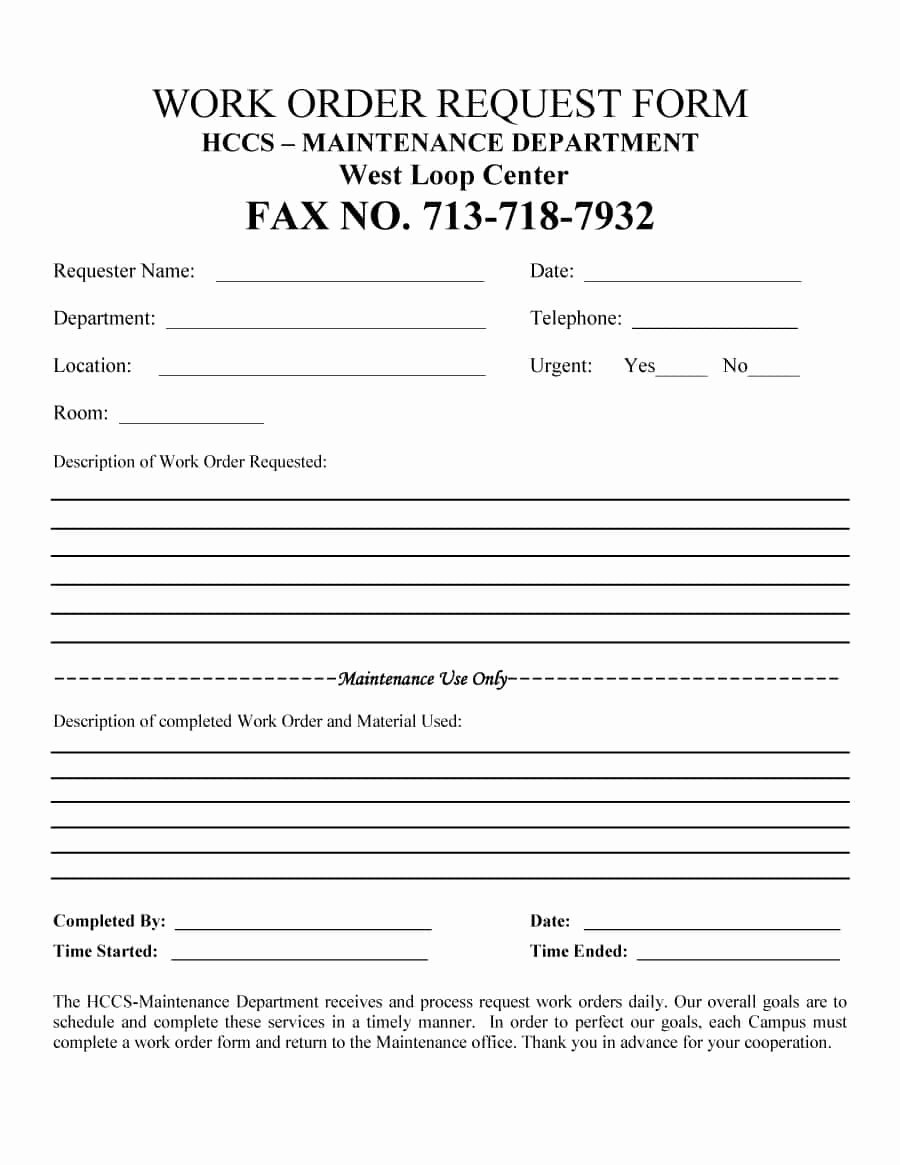 Lab Requisition form Template Luxury 40 order form Templates [work order Change order More]