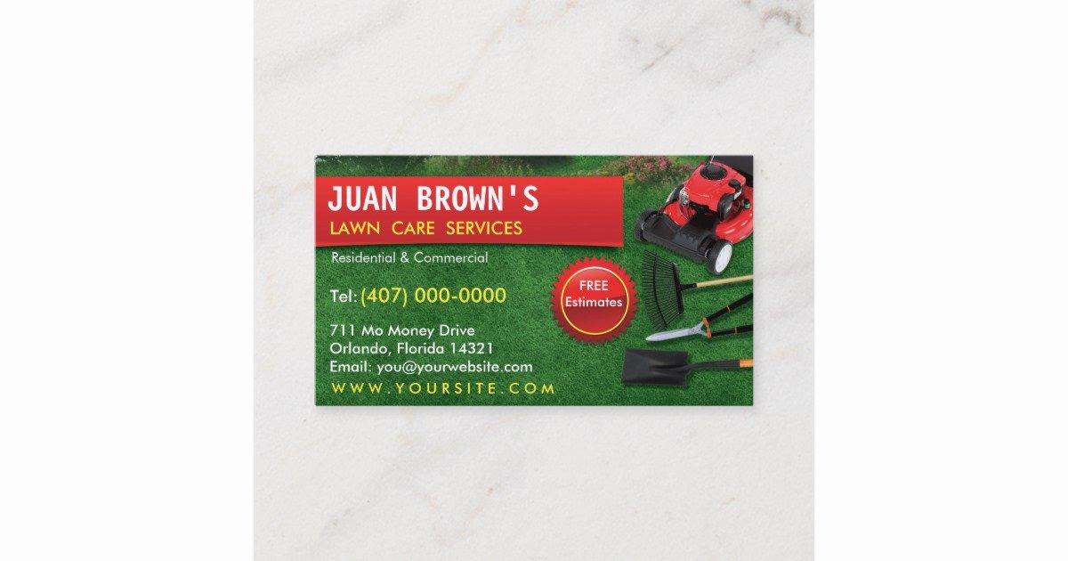 Landscape Business Card Template Beautiful Landscaping Lawn Care Mower Business Card Template