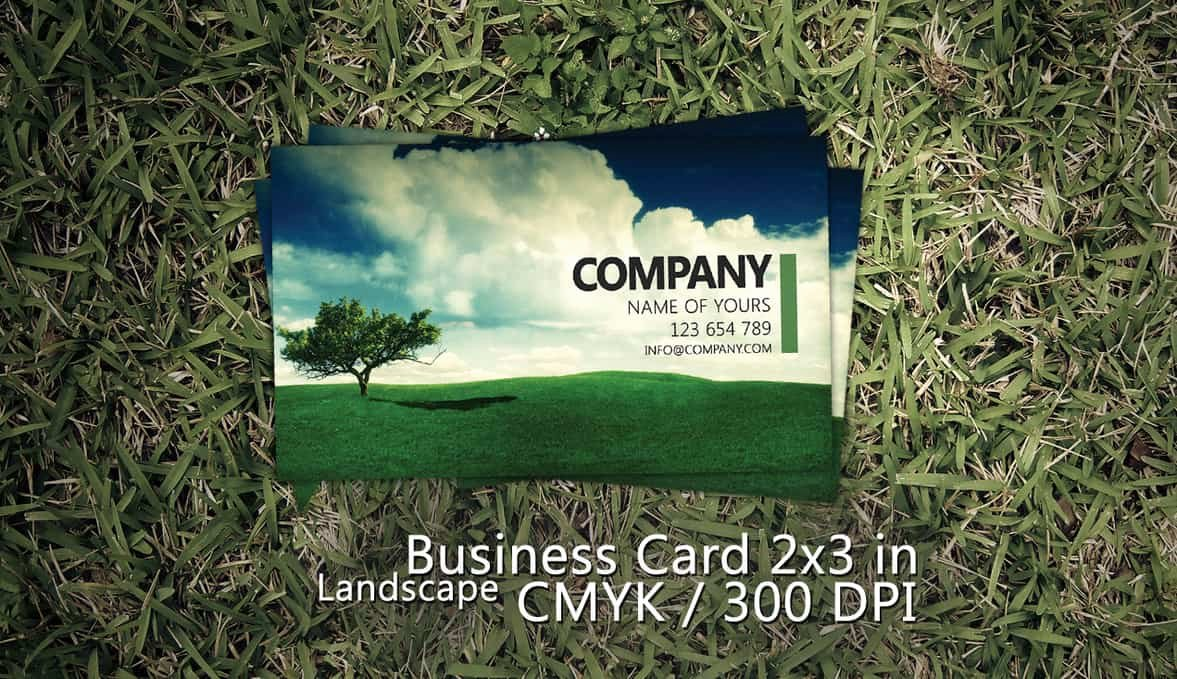 Landscape Business Card Template Fresh 38 Free Psd Business Card Templates 85ideas