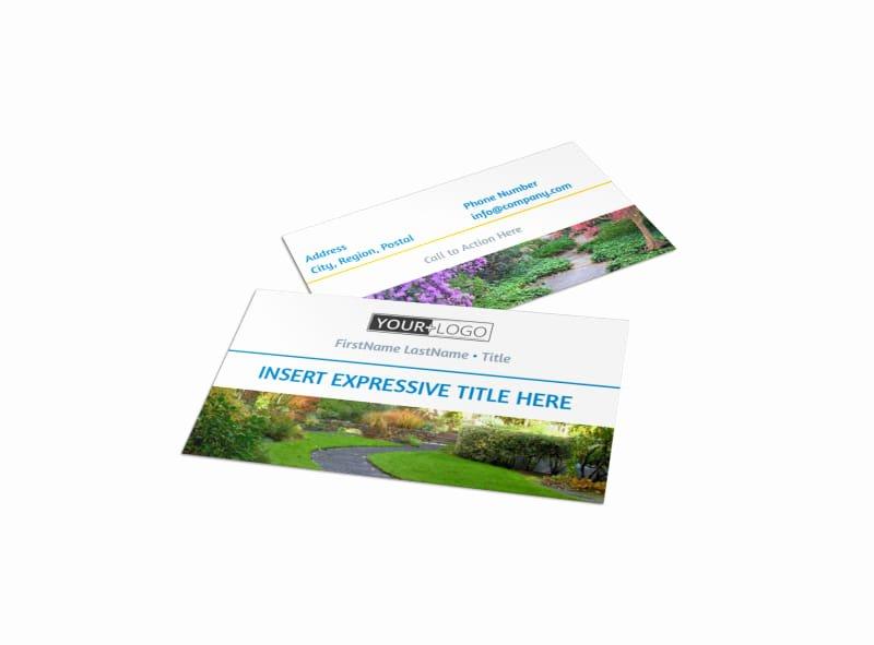 Landscape Business Card Template Inspirational Beautiful Landscape Business Card Template