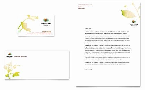 Landscape Business Card Template Lovely Landscape Design Tri Fold Brochure Template Design