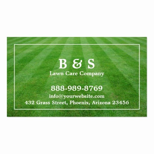 Landscape Business Card Template Lovely Lawn Care Field Grass Business Card
