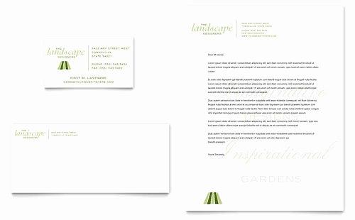 Landscape Business Card Template Luxury Garden & Landscape Design Brochure Template Design