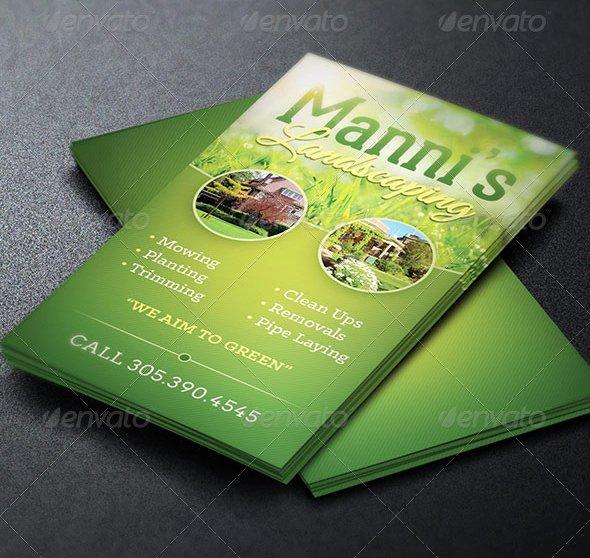 Landscape Business Card Template Luxury Landscaping Business Card Template
