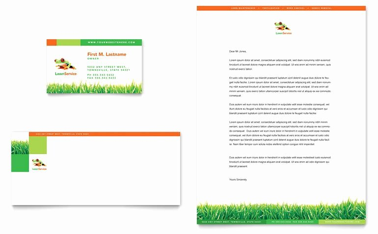 Landscape Business Card Template New Business Lawn Care Letterhead Templates Download
