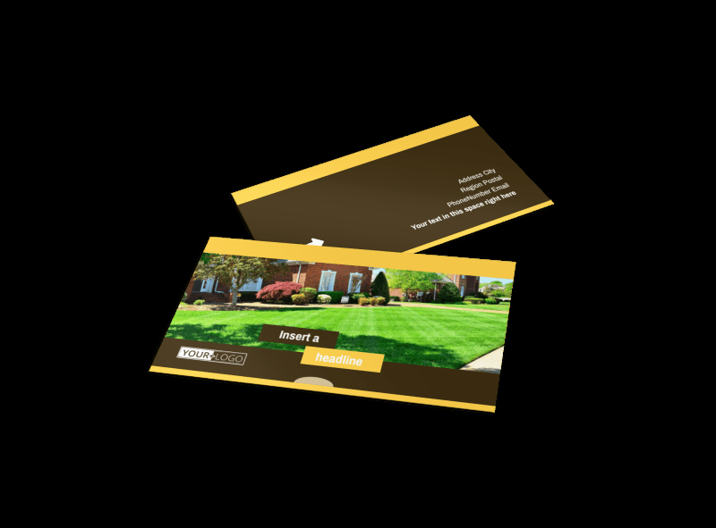 Landscape Business Card Template New Lawn Care Business Card Template