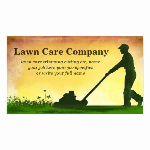 Landscape Business Card Template Unique Lawn Care Grass Cutting Business Card