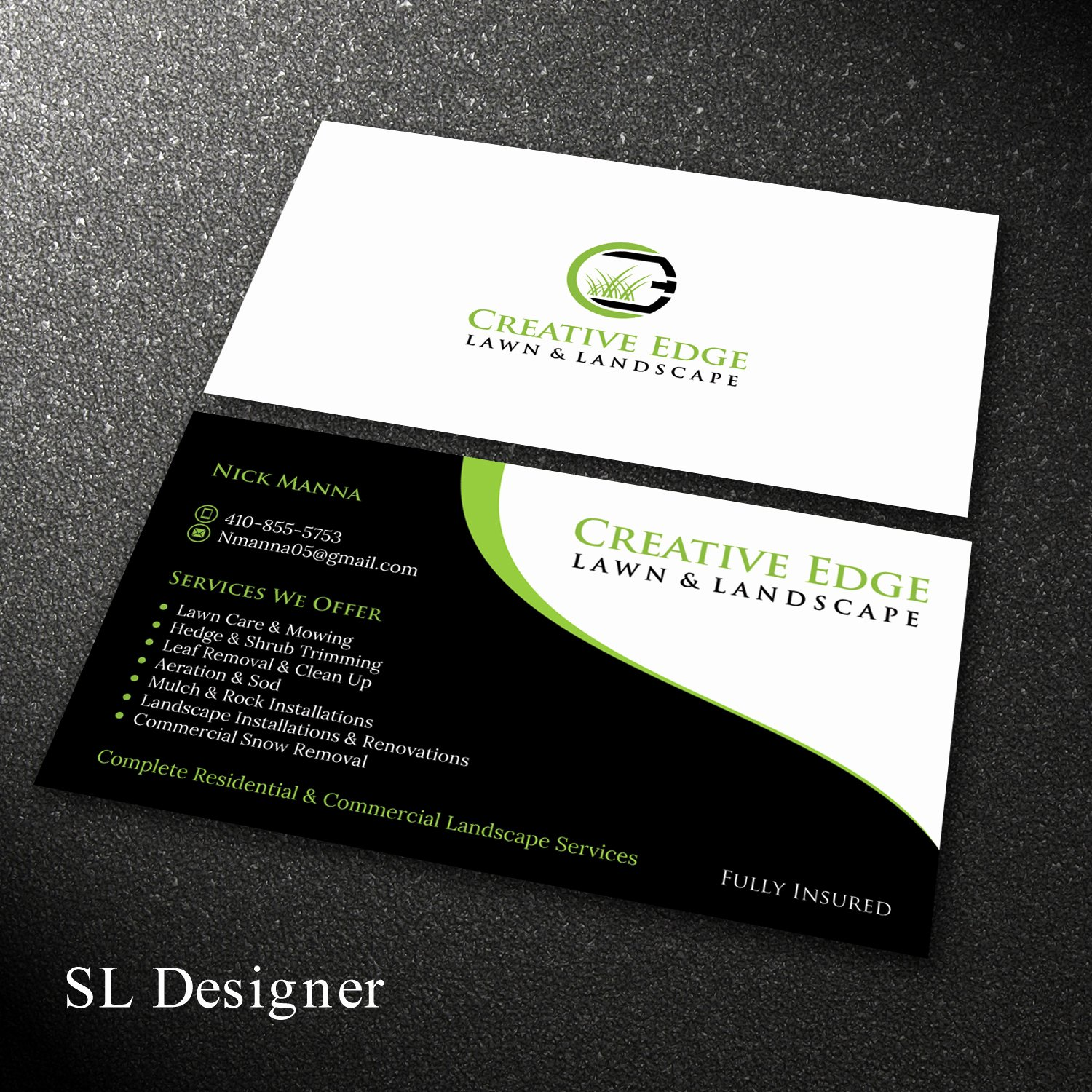Landscape Design Business Cards Awesome Bold Serious Landscape Business Card Design for A