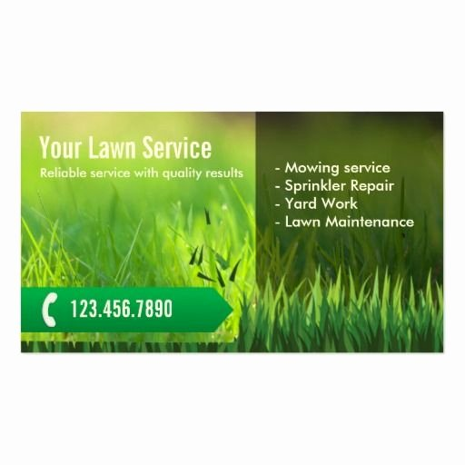 Landscape Design Business Cards Awesome Professional Lawn Care & Landscaping Business Card