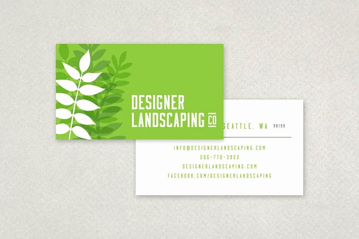 Landscape Design Business Cards Beautiful Designer Landscaping Business Card