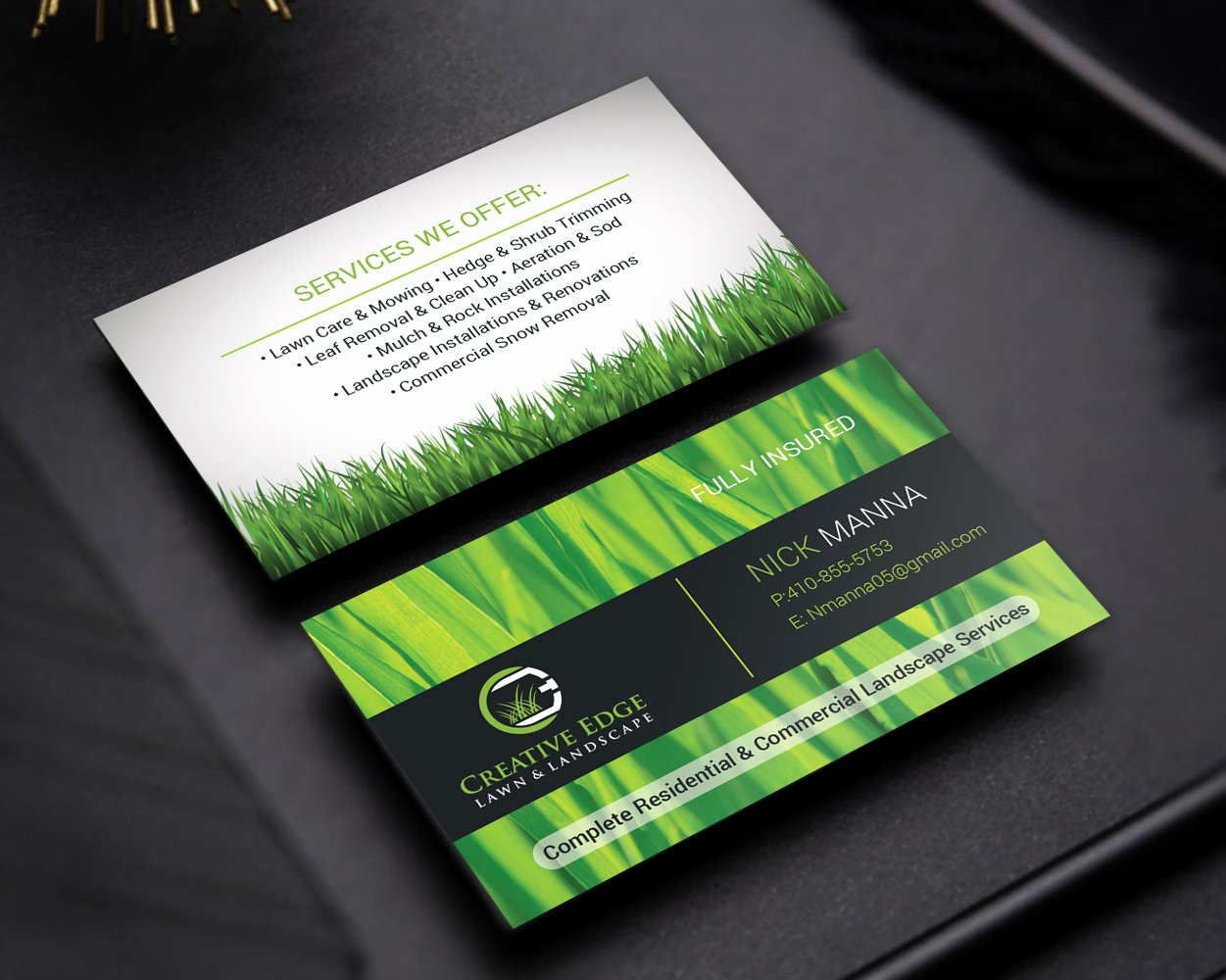 Landscape Design Business Cards Elegant Bold Serious Landscape Business Card Design for A