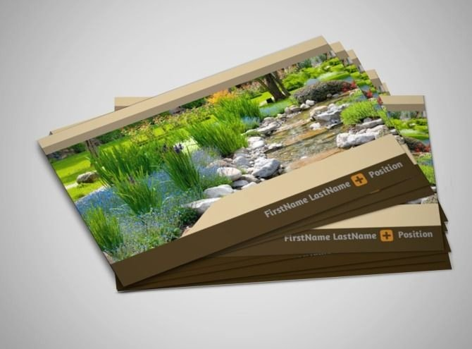 Landscape Design Business Cards Elegant Landscape Design Business Card Template