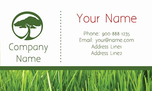 Landscape Design Business Cards Elegant Tree Care Green Business Card Design