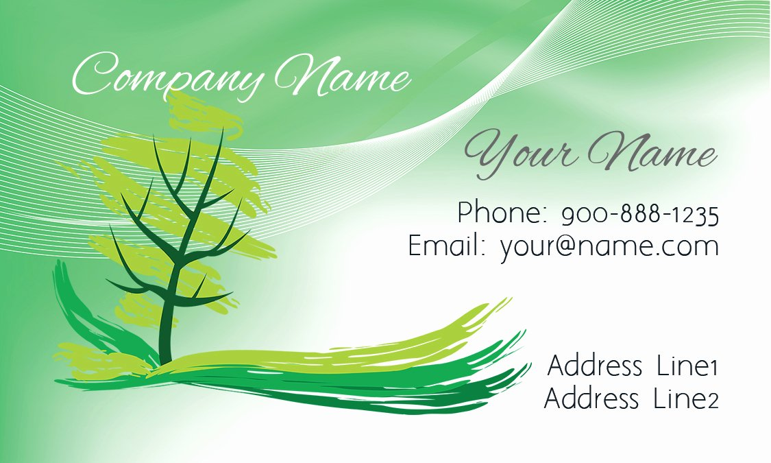 Landscape Design Business Cards Elegant Tree Landscaping Business Card Design
