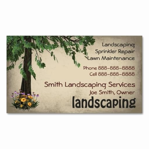 Landscape Design Business Cards Fresh 9 Best Images About Lawn Service Ideas On Pinterest