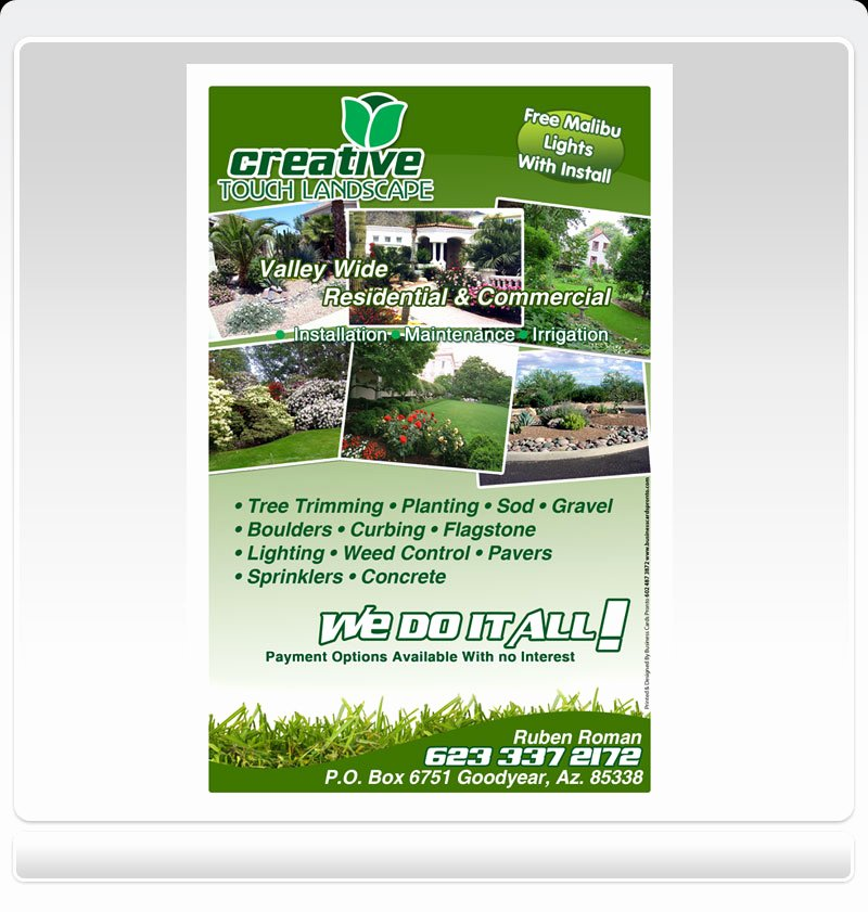 Landscape Design Business Cards Lovely Bl Design Landscaping Business Cards Learn How