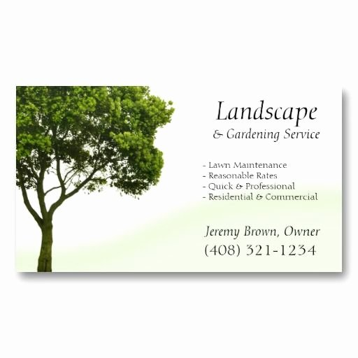 Landscape Design Business Cards Luxury 20 Best Tree Service Business Cards Images On Pinterest