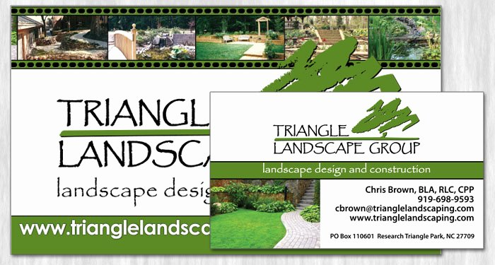 Landscape Design Business Cards New Reflective Digital solutions Graphic Design Graham Nc